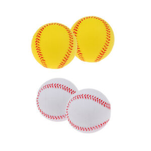 2 / Pack PU Safety Balls for Kids Playing Baseball Outdoors, Camping,