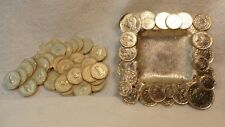 Two Piece Set Melted Coins - Dish and Table Decoration C.1950's