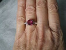 Mystic Pink Topaz ring, Size N/O, 2.64 carats, 2.94 grams of 925 Sterling Silver