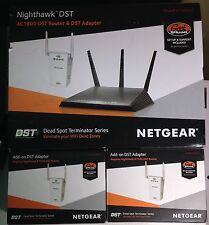 AC1900 DST Router & 3 DST Adapters (wi-if Extender) Nighthawk R7300DST