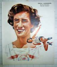 1951 Sheila Alexander British And European High Jump Champion