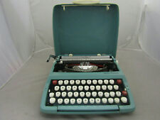 Vintage Smith Corona Corsair Portable Typewriter With Cover  Blue