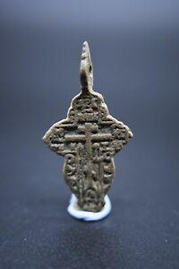 Post Medieval copper alloy crucifix pendant C. 17th century AD