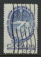 Perfin C36-CPR (VANCOUVER BC): Scott 354, 5c UN Civil Aviation Montreal, Pos. 2