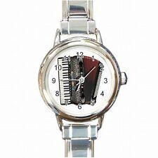 Accordion Vintage Music Player Accordionist Womens Bracelet Watch