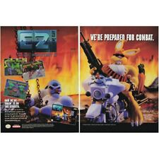 Super Nintendo SNES Clay Fighter 2 Clayfighter II videogame two-page magazine ad