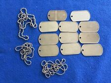 Vietnam Era Blank Dog Tag & Chain Collection Group - Dealers Lot