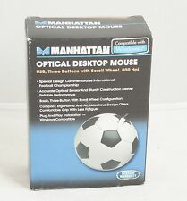 Novelty Soccer Ball USB Wired Optical Desktop Computer Mouse 3-Button Scroll NEW