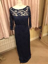 Tiffany Rose Windsor Blue Maternity Evening Wedding Maxi Dress 4 14/16