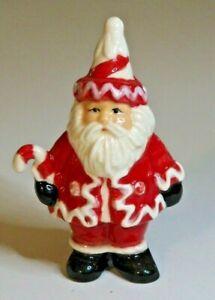 Pie Bird Christmas Santa Holding Candy Cane Piebird USA Made