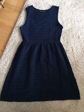Dorothy Perkins, Navy Scalloped Skater Dress, UK 12