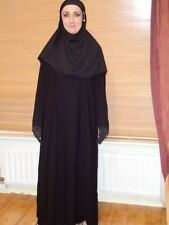 SIZE 62 Black Jilbab Abaya hijab niqab dress burqa veil Kaftan Muslim Islam Long
