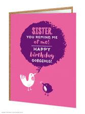 Sorella Sis compleanno auguri carta Divertente Commedia Humour Scherzo Novità Cheeky