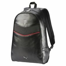 Authentic Official PUMA FERRARI LS BACKPACK - bag black faux leather 073936 01