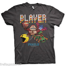 PIXELS Retro Player  T-Shirt  camiseta cotton officially licensed