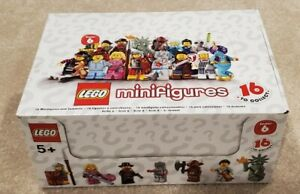 LEGO MINIFIGS SERIES 6 / SEALED BOX OF 60 NEW / #8827 / PERFECT BOX