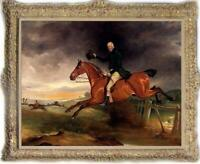 "Old Master-Art Antique Oil Painting Portrait aga horse on canvas 30""x40"""