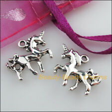 10 New Pendants Animal Horse Unicorn Tibetan Silver Tone Charms 15x19mm