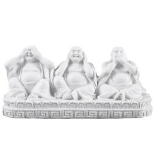 See no evil Speak no evil Hear no evil Laughing Buddha Ornament New Garden Home