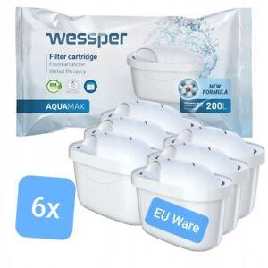 6x Filterkartuschen für Brita Maxtra u. Plus Wasserfilter Kartuschen von Wessper