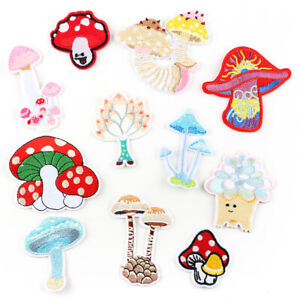 Mushroom DIY Embroidered Sew Iron On Patches Badge Fabric Applique Sticker Craft