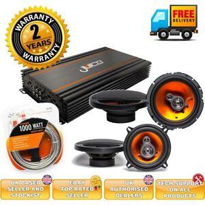 "Juice Car Audio 4 Channel Amplifier and 6"" speaker package deal"