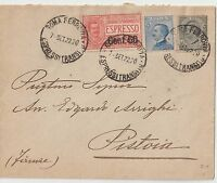 ITALY 1922 EXPRESS COVER FROM ROMA TO PISTOIA