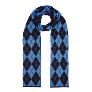 100% Wool Double Sided Argyle Scarf