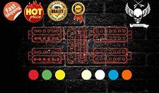 Amazing Colored Pickup  Humbucker Single Coil Sticker Decal (1 PCS)