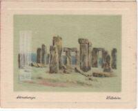 Stonehenge Prehistoric Salisbury Plain Wiltshire England c90 Y/O Ad Trade Card