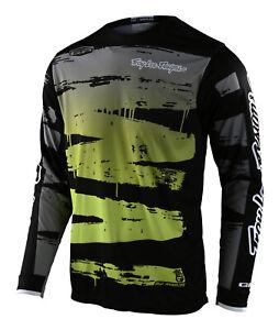 Troy Lee Designs GP Jersey Brushed Black / Glo Green