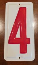 """10"""" NOS Vintage METAL NUMBER """"4"""" Wall Art Industrial Marquee Letter Sign"""