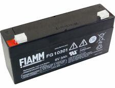 FIAMM BLEIAKKU/BLEI GEL AKKU BATTERIE 6V 3Ah FG10301 ersetzt Multopower MP3.3-6