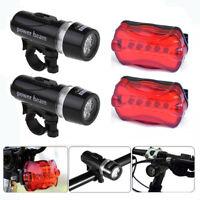 2Set Waterproof LED Lamp Bike Bicycle Front Head Light+Rear Safety Flashlight IR