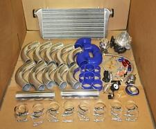 T3/T4 TURBO TURBOCHARGER KIT AR.63 STAGE 3' BLUE CIVIC CRX DEL SOL INTEGRA 88-00