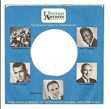 45RPM, RECORD SLEEVE ONLY ' UNITED ARTISTS ' VG+  #1