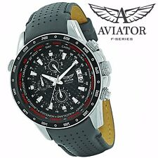 ccd650c80acbd4 New Listing2 UNITS x AVIATOR Pilot Mens Watch Quartz Waterproof Chronograph  ⚠ DAMAGED BOX ⚠