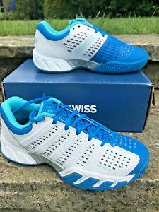 K-Swiss Big Shot Light 2.5 Womens Tennis Shoes UK 4 - New with Box! White/Blue