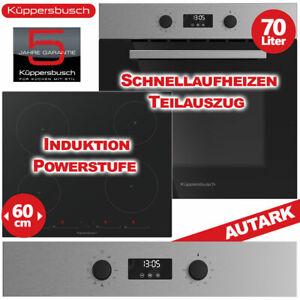 Küppersbusch Backofen Herdset Kochfeld Induktion Glaskeramik Herd Elektro Autark