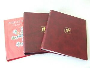 STANLEY GIBBONS GREAT BRITAIN & COMMONWEALTH LUXURY RING ALBUMS, VARIOUS