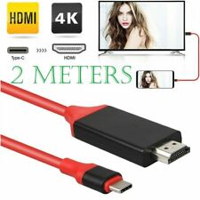 2M Type C to HDMI Cable Converter 4K HDTV USB Adapter For Samsung Galaxy HUAWEI