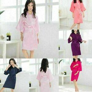 1PCS Children Kids Baby Girl Silk Satin Kimono Robe Pajama Sleepwear Clothes Set