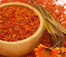 PREMIUM ORGANIC SAFFRON TEA DRIED SAFFLOWER HEALTHY ANTIOXIDANT GOOD FOR HEART