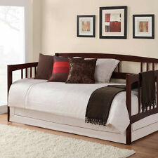 Brown Twin Size Wood Day Bed Home Living Room Guest Bedroom Dorm Furniture