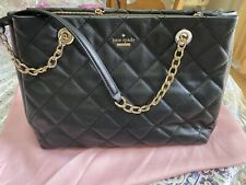 Kate Spade Briar Lane Meena Quilted Black Leather Crossbody Hand Bag Purse $459