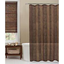 Semi Sheer Animal Print Fabric Shower Curtain Gold Metallic Thread Leopard New