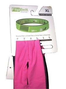 FlipBelt X Large Classic Hot Pink Running Yoga Gym Fitness Belt Medical Belt XL