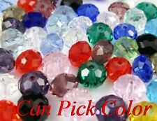 800pcs 6mm DIY loose strand Mixed Faceted Rondelle Glass Crystal Beads spacer