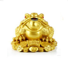 Feng Shui Lucky Money Three Legs Gilded Frog Toad Ingot Coin For Enhance Fortune