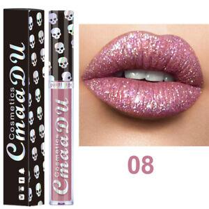 Long Lasting Liquid Matte Metallic Glitter Lipstick Lip Gloss Lip Makeup Tools